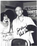 "THE DICK VAN DYKE SHOW"" Signed by DICK VAN DYKE as ROB and MARY TYLER MOORE as LAURA 8x10 B/W Photo"