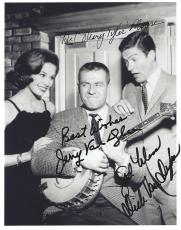 "THE DICK VAN DYKE SHOW"" Signed by DICK VAN DYKE, MARY TYLER MOORE, and JERRY VAN DYKE 8x10 B/W Photo"