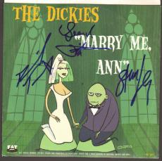 THE DICKIES Stan Lee, Leonard Phillips +1 Signed 45 RPM Album Sleeve JSA #Z21723