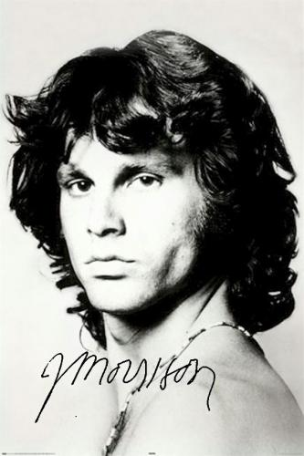 The Doors Facsimile Signed Jim Morrison The Doors Shoulder Poster