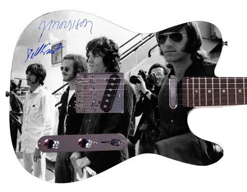 The Doors  Facsimile Signature Custom Graphics Guitar