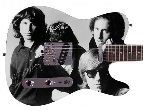 The Doors  Facsimile Signature Custom Graphics Guitar