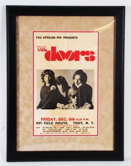 The Doors Poster Original Dec. 8, 1967 COA 100% Authentic Team