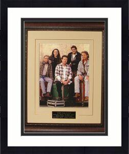 The Eagles 11x14 Photo Premium Leather Framing & V-Groove Matting w/ Don Henley/Glenn Frey