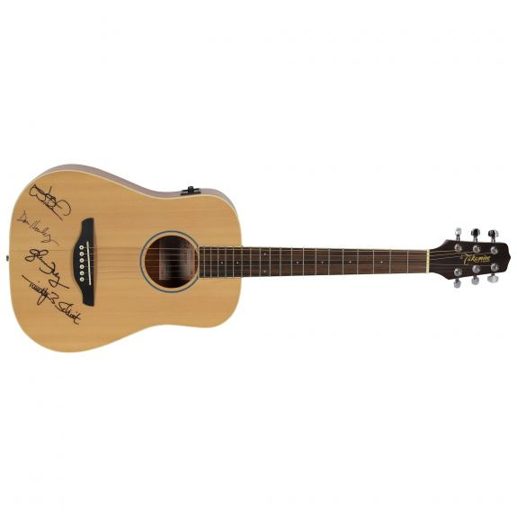 The Eagles Autographed Acoustic Guitar - BAS