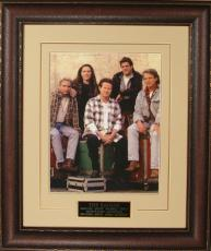 The Eagles unsigned 11x14 Photo Leather Framed V-Groove Premium Matting w/ Don Henley/Glenn Frey (music/entertainment)