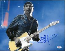 The Edge Signed Authentic Autographed 11x14 Photo PSA/DNA #AB24583