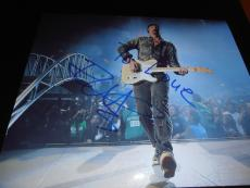 THE EDGE SIGNED AUTOGRAPH 8x10 PHOTO U2 CONCERT GUITAR DESIRE JOSHUA TREE COA D