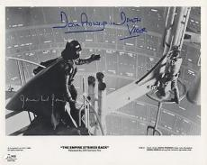 THE EMPIRE STRIKES BACK signed JAMES EARL JONES & DAVID PROWSE - authenticated