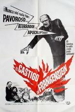 The Evil Of Frankenstein Movie Film Ad Poster Spanish Starring Peter Cushing