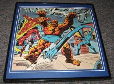 The Fantastic Four & Medusa Original Framed 1975 Marvel Poster 12x12