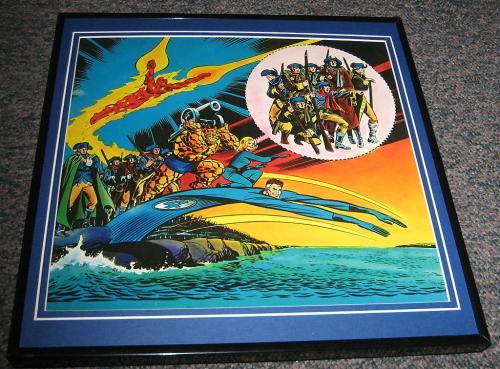 The Fantastic Four Original Framed 1976 Marvel Bicentennial Poster 12x12