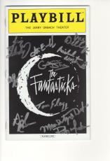 The Fantasticks Hand Signed Ny City Playbill+coa      Signed On Cover By Cast