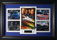 Fast and the Furious Cast Signed Home Theater Framed Display
