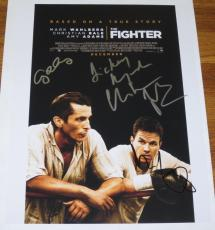 THE FIGHTER CAST SIGNED 11X14 PHOTO CHRISTIAN BALE Mark Wahlberg AMY ADAMS COA