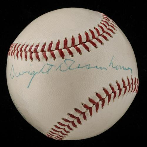 The Finest President Dwight D. Eisenhower Single Signed Baseball PSA DNA COA