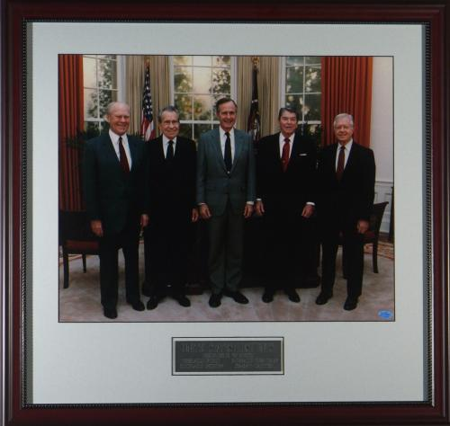 The Five Presidents - Historic Framed Photo