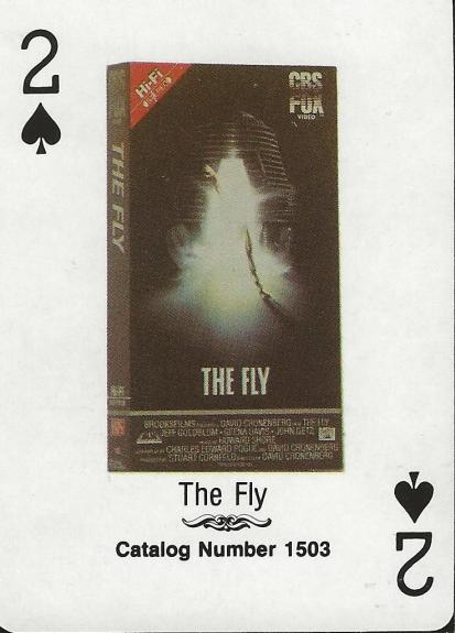 The Fly RARE 1988 CBS Fox Promotional Playing Card Jeff Goldblum