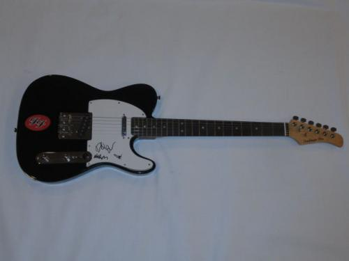 The Foo Fighters Signed Electric Guitar Dave Grohl Taylor Nate Pat Proof Jsa Coa