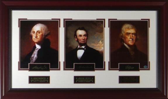 Founding Fathers - Presidential Laser Engraved Signature Dis