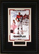 The Game Plan - The Rock Autographed 11x17 Framed Poster