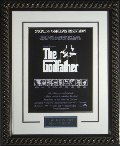 """The Godfather Framed 11x17"""" Movie Poster"""