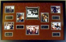 The Godfather framed and matted laser signatures Al Pacino, Marlon Brando, James Caan, etc with movie scene images 23x34