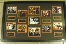 The Godfather framed and matted laser signatures Al Pacino, Marlon Brando, James Caan, etc with movie scene images 23x34 Black