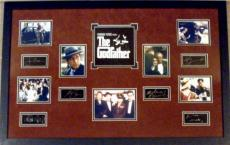 The Godfather framed and matted laser signatures Al Pacino, Marlon Brando, James Caan, with movie scene images 23x34