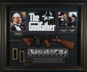 Godfather - Al Pacino James Caan Signed Home Theater Display