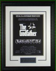 The Godfather unsigned Vintage Movie Poster Leather Framed 20x28 (entertainment/photo) w/ Al Pacino