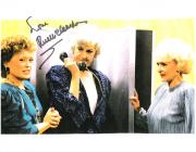 "THE GOLDEN GIRLS"" RUE MCCLANAHAN as BLANCHE Signed 11x8.5 Color Paper Thin"