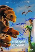 The Good Dinosaur (6) Elliott, Paquin, Signed 12x18 Movie Poster PSA #AB08281