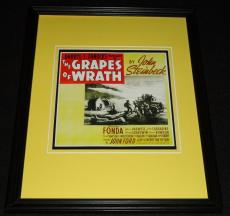 The Grapes of Wrath Framed 11x14 Poster Display Official Repro Henry Fonda