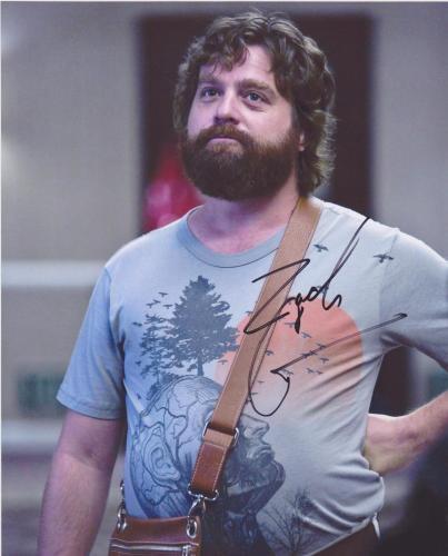 The Hangover Zach Galifianakis Signed 8x10 Photo