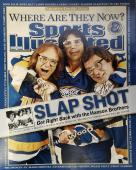 The Hanson Brothers Signed Autographed 16x20 Slap Shot Sports Illustrated JSA