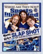 The Hanson Brothers Autographed Slap Shot Sports Illustrated Cover 8x10 Photo