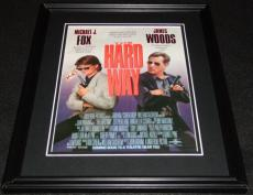The Hard Way 1991 Framed 11x14 ORIGINAL Vintage Advertisement Michael J Fox