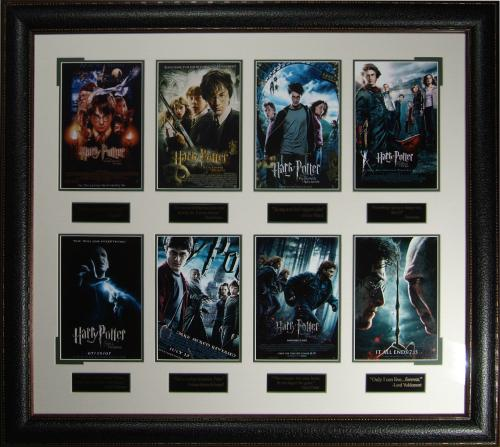 The Harry Potter Collection Framed Movie Poster Displayed