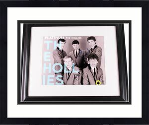 The Hollies Autographed Signed 11x14 Platinum Photo Graham Nash Clarke Haydock