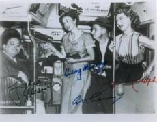 The Honeymooners facsimile sig 8x10 B&W Photo Jackie Gleason, Audrey Meadows, Art Carney & Joyce Randolph