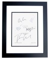 The Ides of March Autographed Script by George Clooney, Ryan Gosling, Evan Rachel Wood, Max Minghella, and Marisa Tomei BLACK CUSTOM FRAME