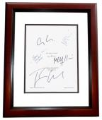 The Ides of March Signed - Autographed Script by George Clooney, Ryan Gosling, Evan Rachel Wood, Max Minghella, and Marisa Tomei MAHOGANY CUSTOM FRAME - Guaranteed to pass PSA or JSA