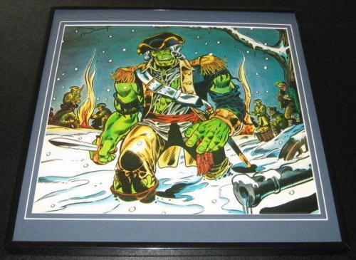 The Incredible Hulk Original Framed 1976 Marvel Bicentennial Poster 12x12