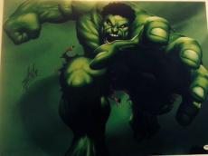 The Incredible Hulk Stan Lee Signed Autographed 18x24 Photo Picture PSA Marvel