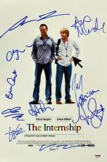 The Internship Cast (10) Vince Vaughn, Josh Gad Signed 12x18 Photo PSA #Z03371
