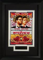 The Interview signed 22X30 Masterprint Poster Custom Framed w/ Seth Rogen & James Franco (movie/entertainment/photo)
