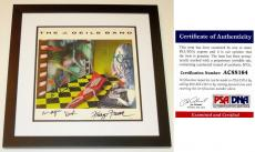The J Geils Band Signed - Autographed Vinyl Album Cover with Album signed by J Geils and Magic Dick - Personalized To Dan - BLACK CUSTOM FRAME - PSA/DNA Certificate of Authenticity (COA)