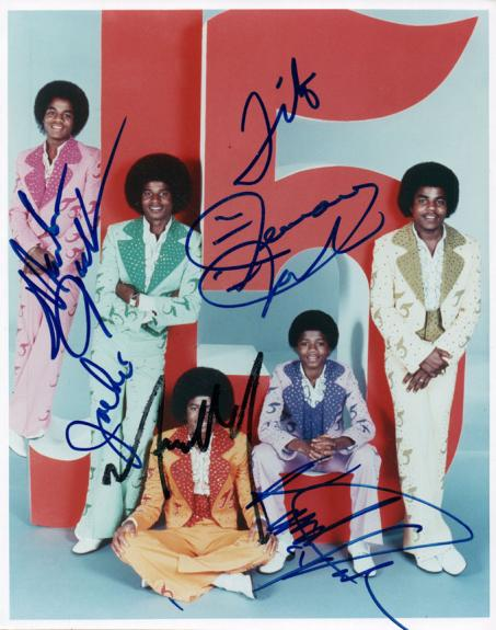 The Jackson 5 Five Michael Plus All Autographed Signed Photo AFTAL UACC RD