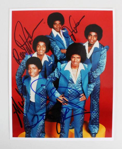 The Jackson 5 Signed 8×10 Photo – COA JSA